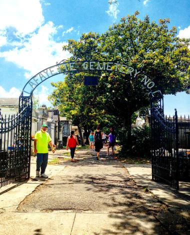 Lafayette cemetery Entrance