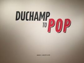 Duchamp to POP