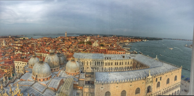 Venice from St Mark Campanile Bell Tower