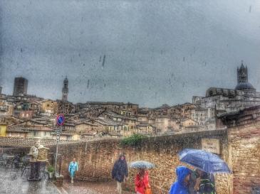 Siena under the rain