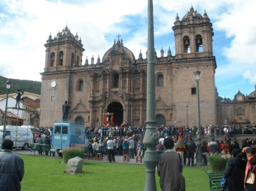 Cusco Iglesia and Convento Santo Domingo on the main square Plaza de Armas