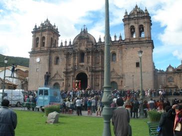 Cusco Iglesia and Convento Santo Domingo on the main square Plaza de Armas