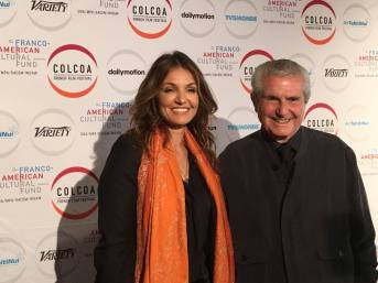 Nadia Fares and Claude Lelouch