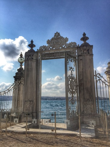Dolmabahce Gate to Bosphorus