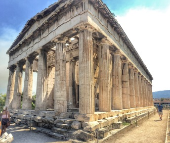 Ancient Agora with temple of Hephaistos