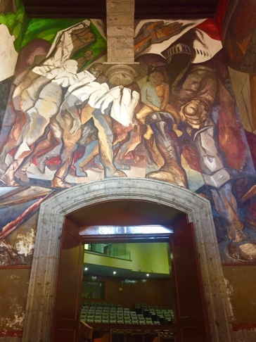 "Mural Painting ""Lucha Social"" by Jose Clemente Orozco"
