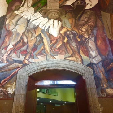 """Mural Painting """"Lucha Social"""" by Jose Clemente Orozco"""